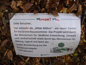 """Hinweisschild """"Wilde Möhre"""""""