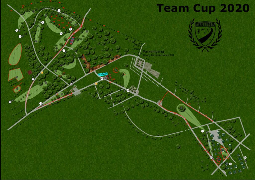 Kursplan für den Team Cup 2020