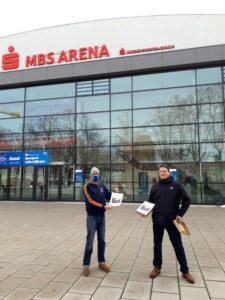 Philipp Stadler und Sascha Krämer (MBS-Arena)